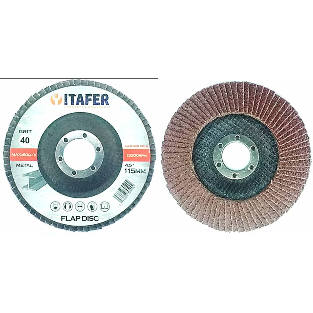 Disco Flap 4,5 Grão 40 - ITAFER