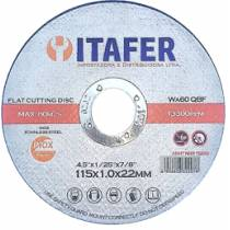 "Disco de Corte 4,5""X1,0x22 - Itafer"
